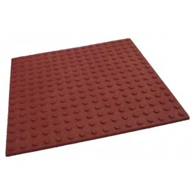Eséscsillapító gumilap 4 cm vörös