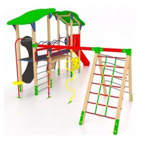 FUSIO kombinált játszótér csúszdával, híddal