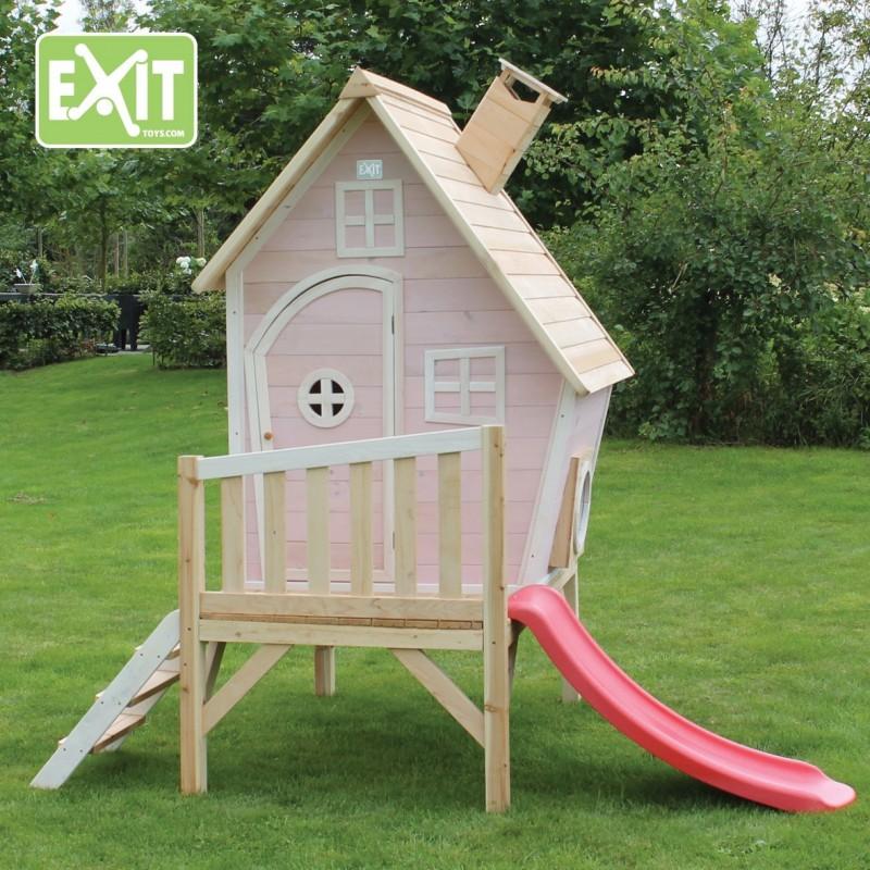 Fantasia 300 pink kerti játszóház csúszdával