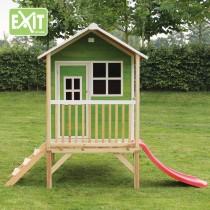 Loft 300 /zöld/ kerti játszóház csúszdával