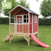 Loft 300 /piros/ kerti játszóház csúszdával