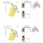 Blue Rabbit @ Pagoda játszótér 'S' 1,2 m-es platform + Challenger + mászófal