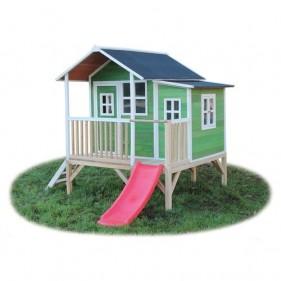 Loft 350 /zöld/ játszóház csúszdával  (100% FSC)