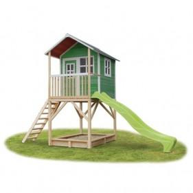 Loft 700 /zöld/ játszóház csúszdával  (100% FSC)