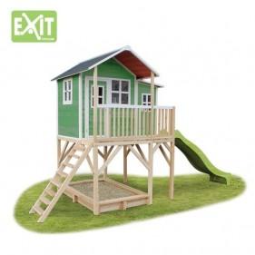 Loft 750 /zöld/ játszóház csúszdával  (100% FSC)