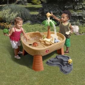 Dino homokozó és vizes játszóasztal
