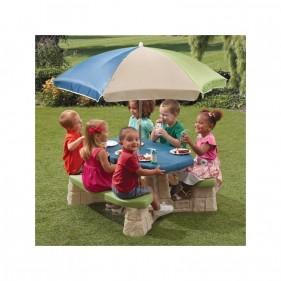 Piknik asztal napernyővel
