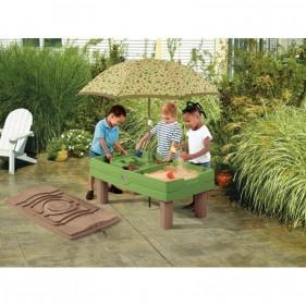 Natúr homokozó és vizi játszóasztal