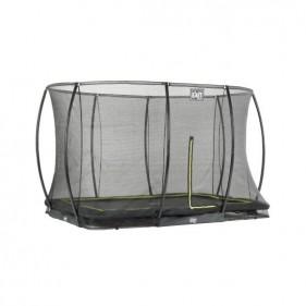 EXIT Silhouette Ground szabadtéri derékszögű spirálrugós süllyesztett trambulin - fekete