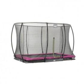 XIT Silhouette Ground 214*305 cm szabadtéri derékszögű spirálrugós süllyesztett trambulin - pink