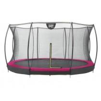 EXIT Silhouette Ground védőhálós süllyesztett trambulin ø427cm rózsaszín