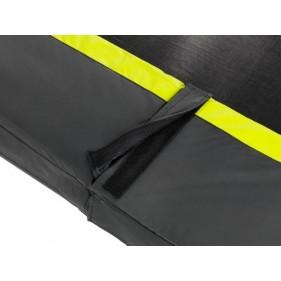EXIT Silhouette szabadtéri kör spirálrugós talajfelszín feletti trambulin ø183cm  - fekete