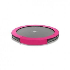 EXIT Silhouette Ground 244 cm szabadtéri kör spirálrugós süllyesztett trambulin - pink