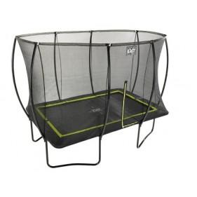 EXIT Silhouette Ground 244*366 cm szabadtéri derékszögű spirálrugós süllyesztett trambulin - zöld
