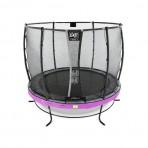EXIT Elegant Safety Deluxe 253 cm szabadtéri kör spirálrugós talajfelszín feletti rekreációs és kerti trambulin - lila