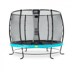 EXIT Elegant Safety Deluxe 305 cm szabadtéri kör spirálrugós talajfelszín feletti rekreációs és kerti trambulin - kék