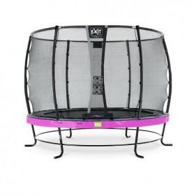 EXIT Elegant Safety Deluxe 366 cm szabadtéri kör spirálrugós talajfelszín feletti rekreációs és kerti trambulin - lila