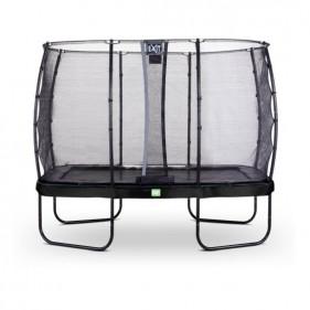 EXIT Elegant Safety Deluxe 244*427 cm szabadtéri derékszögű spirálrugós talajfelszín feletti trambulin - fekete