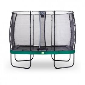 EXIT Elegant Safety Deluxe 244*427 cm szabadtéri derékszögű spirálrugós talajfelszín feletti trambulin - zöld
