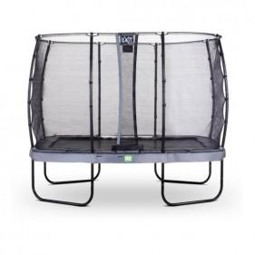 EXIT Elegant Safety Deluxe 244*427 cm szabadtéri derékszögű spirálrugós talajfelszín feletti trambulin - szürke