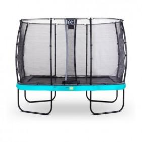 EXIT Elegant Safety Deluxe 244*427 cm szabadtéri derékszögű spirálrugós talajfelszín feletti trambulin - kék
