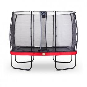 EXIT Elegant Safety Deluxe 244*427 cm szabadtéri derékszögű spirálrugós talajfelszín feletti trambulin - piros