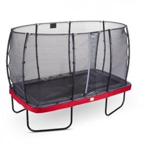 EXIT Elegant Prem Safety Economy 214*366 cm derékszögű trambulin - piros