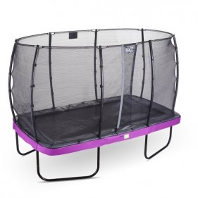 EXIT Elegant Prem Safety Economy 214*366 cm derékszögű trambulin - lila