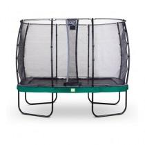 EXIT Elegant Prem Safety Economy 244*427 cm derékszögű trambulin - zöld