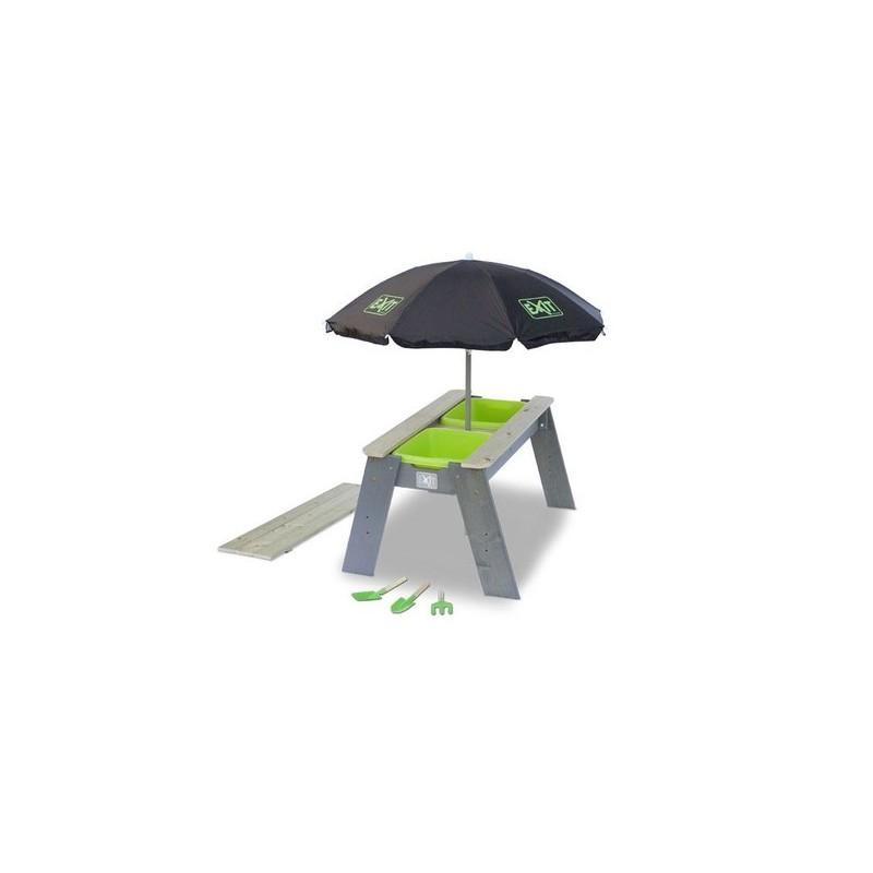 """EXIT Aksent """"L"""" Homok- és vízasztal napernyővel"""