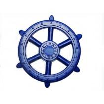 Nagy műanyag hajókormány - kék