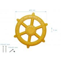 Nagy műanyag hajókormány - sárga