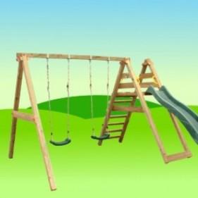 Swing&Slide hintás csúszdaállvány
