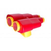 Dupla csövű távcső piros/sárga