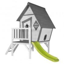 Cabin XL kerti fa játszóház csúszdával